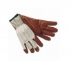 Nitrile Seamless Nylon Knit Glove Size 9 Large Brown 12/Pk