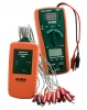 Cable Identifier/Tester Kit w/ 16-Line Transmitter, MultiMeter/Receiver, 2 9V & 2AAA Batteries & Case