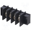 5 Pos Barrier T-Block 9.5mm 12-22awg Blk