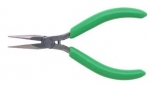 Xcelite 5'' Thin Fine Point Long Nose Pliers w/ Green Cushion Grips Serrated Jaws