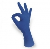 12'' 13 mil Qualatex Miracle Grip Polymer Coated Latex Disposable Gloves Blue 50/Pkg Extra-Small