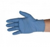 9'' 3 mil Qualatrile SENS! Soft Powder-Free Nitrile Disposable Gloves Blue 100/Pkg Small