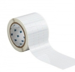 Thermal Transfer Printable Labels 0.75 x .25'' White High Temperature Polyimide 10,000/Roll