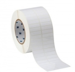 Thermal Transfer Printable Labels 1.5 x .375'' White Permanent Polyester 10,000/Roll