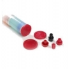 End Cap Threaded Tri Seal Red All Sizes