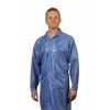 Knee-Length Lab Coat Blue Lightweight OFX-100 Fabric - Medium