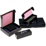 IC Shipping Boxes w/ Dissipative Pink/Conductive Black Foam 7 x 3.5 x 1'