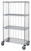 3-Sided Enclosure Cart Wire Chrome