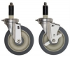 Four Swivel 5'' x 1-1/4'' Poly Casters 2