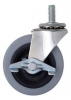 Four Swivel 3'' Casters Poly w/ Brakes