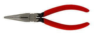 Xcelite 6'' Needle Nose Pliers w/ Red Cushion Grip Handle Serrated Jaws Carded