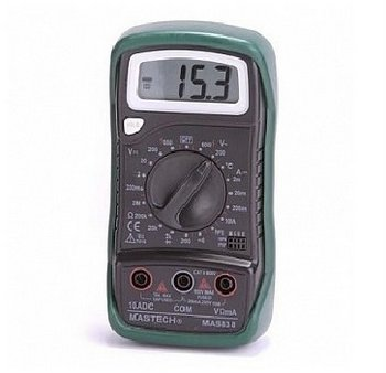 3 1/2 Mini Digital Multimeter w/ Diode Temp & Trans chk