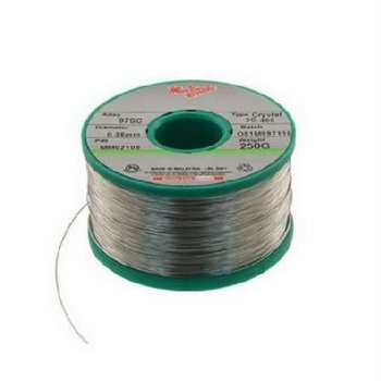 Solder Wire No Clean SN63 Crystal 400 2C .015-1 (0.38mm) 250gm Spool
