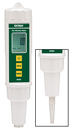 Pen Vibration Meter Measuring RMS Acceleration & Velocity